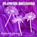 Photoshop Flower Brushes 1 by ibjennyjenny