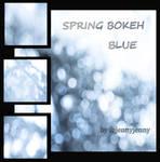 Spring Bokeh Blue