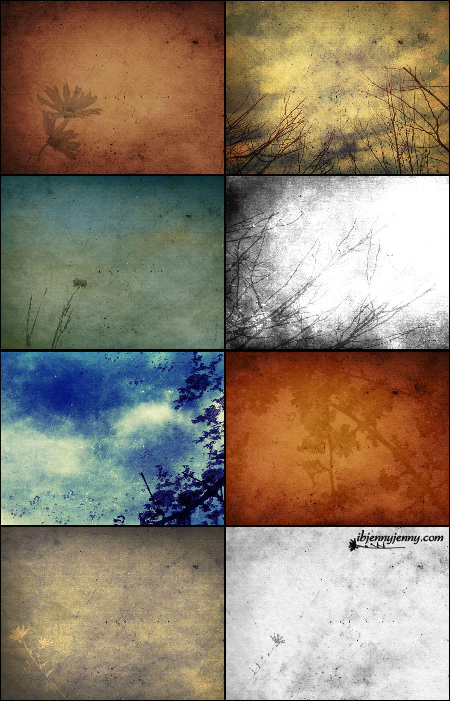 Floral composite Textures set 3 by ibjennyjenny