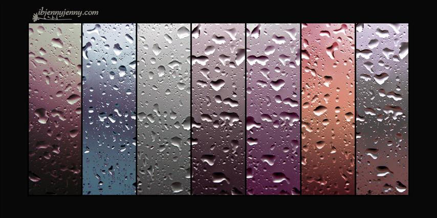 Free Color Drops Textures  Set 2 by ibjennyjenny