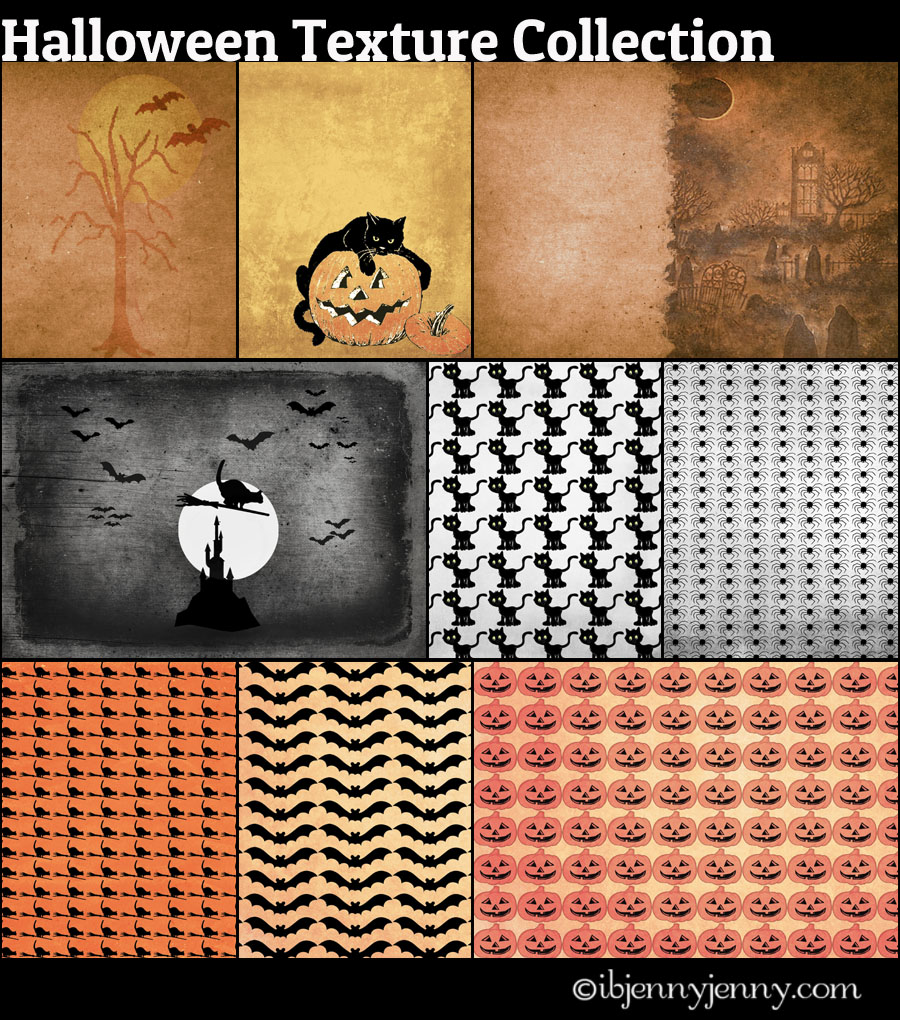 Free Halloween Texture Collection by ibjennyjenny
