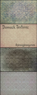 Free Grungy Damask Textures