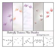 5 Free Butterfly Textures plus Photoshop Brushes