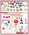 Free Christmas Decorations Brushes plus Cutouts