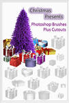 Christmas Presents Photoshop Brushes plus Cutouts