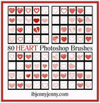 80 Free High Quality HEART Photoshop Brushes