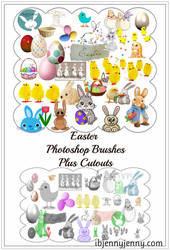 Free Easter Photoshop Brushes plus Cutouts