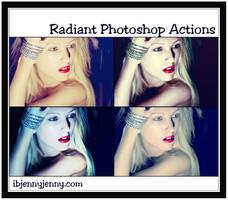 Free Radiant Photoshop Actions by ibjennyjenny