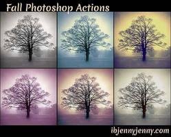 Free Fall Photoshop Actions by ibjennyjenny