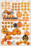 Free Pumpkins Photoshop Brushes