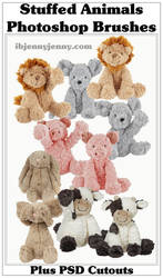 Stuffed Animal Photoshop Brushes By ibjennyjenny