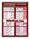 Photoshop Valentine's Day Patterns + Backgrounds