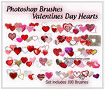 Heart Photoshop Brushes for Valentines Day