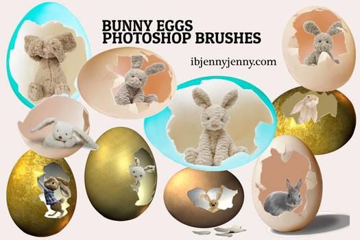 Bunny Eggs Photoshop Brushes