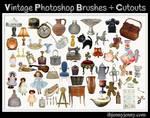 Free Vintage Photoshop Brushes plus Cutouts