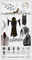 Halloween Photoshop Brushes plus Cutouts 2015