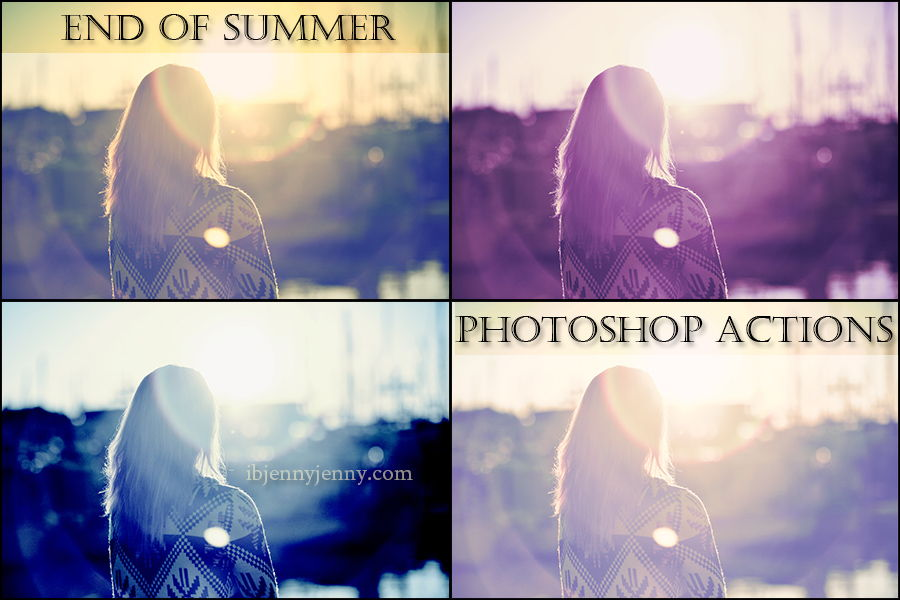 End of Summer Photoshop Actions