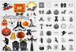 Free Halloween Fun Photoshop Brushes plus Cutouts