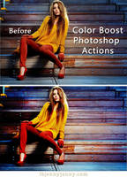 Free Color Boost Photoshop Actions by ibjennyjenny