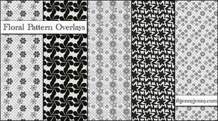Floral Pattern Overlays Set 1