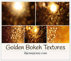 Free Golden Bokeh Textures by ibjennyjenny