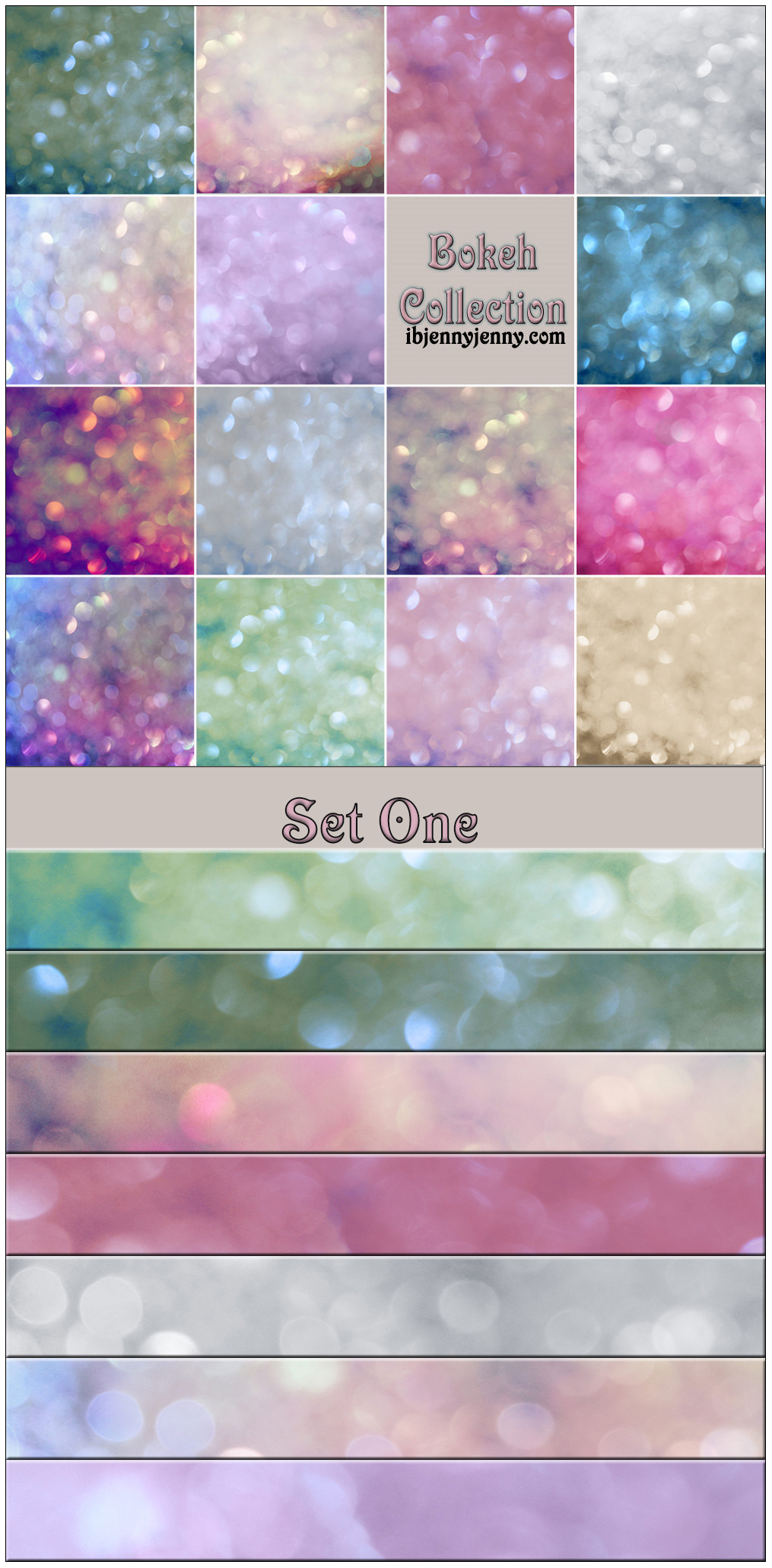 Bokeh Collection Set One by ibjennyjenny