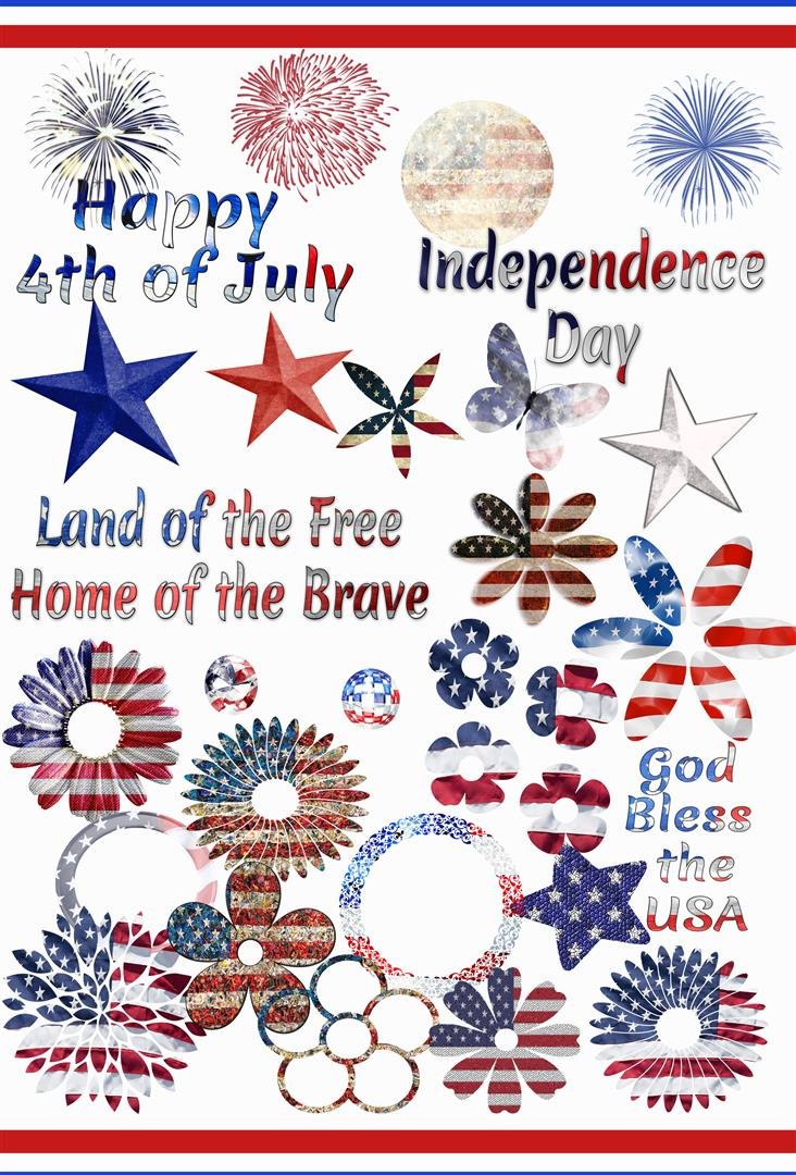 FREE 4th of July Photoshop Brushes by ibjennyjenny