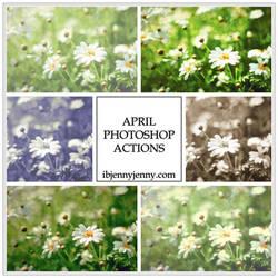 FREE APRIL PHOTOSHOP ACTIONS