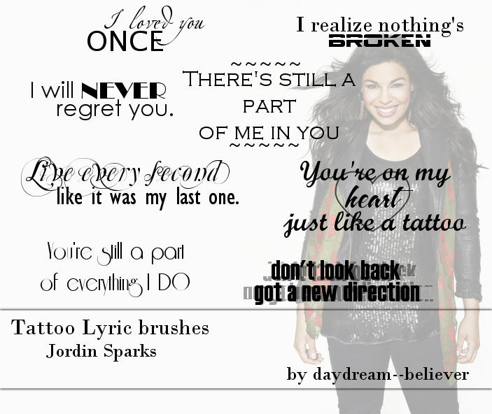 'Tattoo' Lyric brushes by *daydream--believer on deviantART