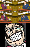 Miles Edgeworth and His Terrible Puns Template by DarkMatter89