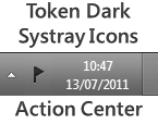 Token Dark Action Center Icon by 50M3B0DY
