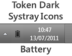 Token Dark Battery Meter Icon by 50M3B0DY