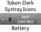 Token Dark Battery Meter Icon by 50M3B0DY