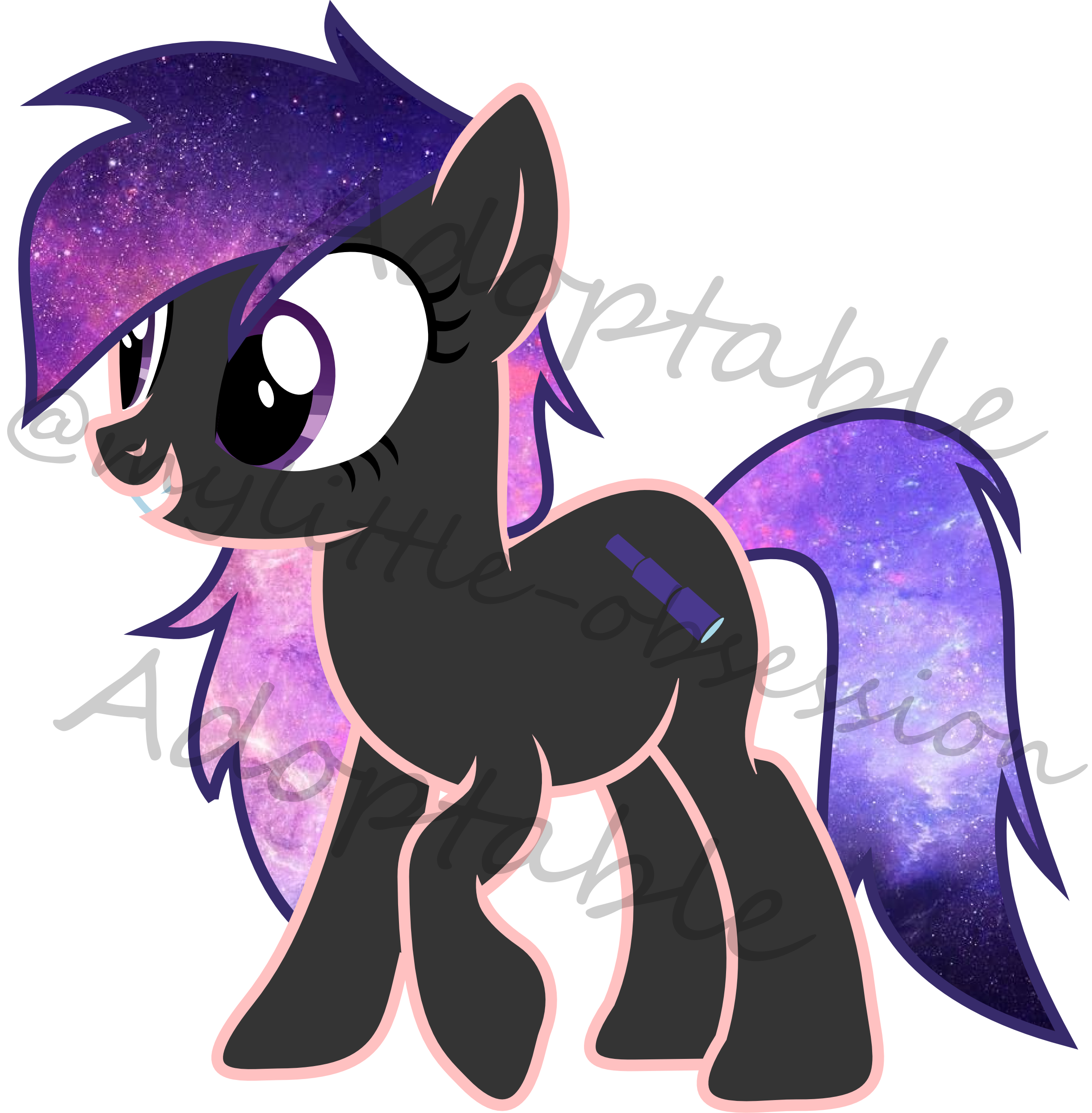 Galaxy Oc Adoptable Mlp Available By Mylittle Obsession