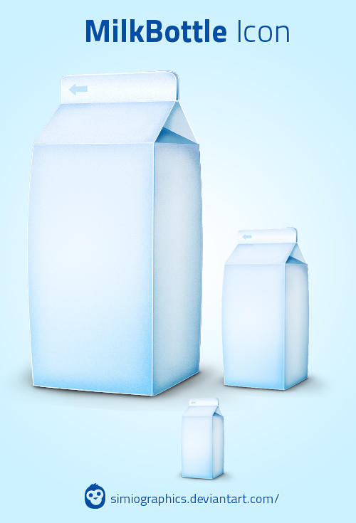 MilkBottle Icon by simiographics