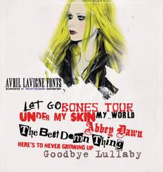 Pack de fonts de Avril Lavigne by TheSofterSideAv