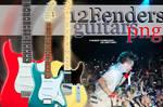 12 Fenders Guitars PNG by TheSofterSideAv