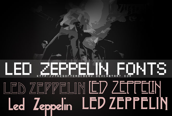 Led Zeppelin Fonts by TheSofterSideAv