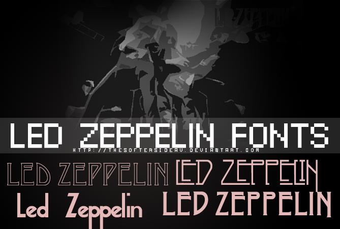 Led Zeppelin Fonts by TheSofterSideAv