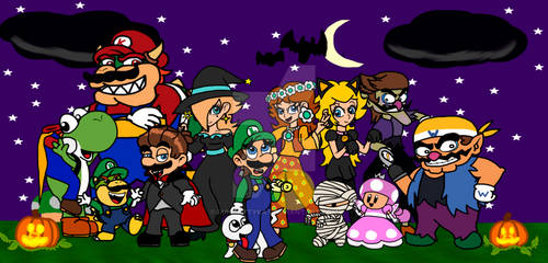 Super Mario Halloween 2018 by LuigiKittyKat