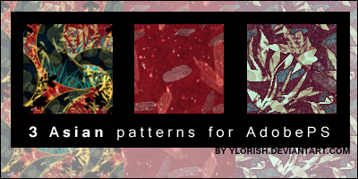 Asian patterns by ylorish