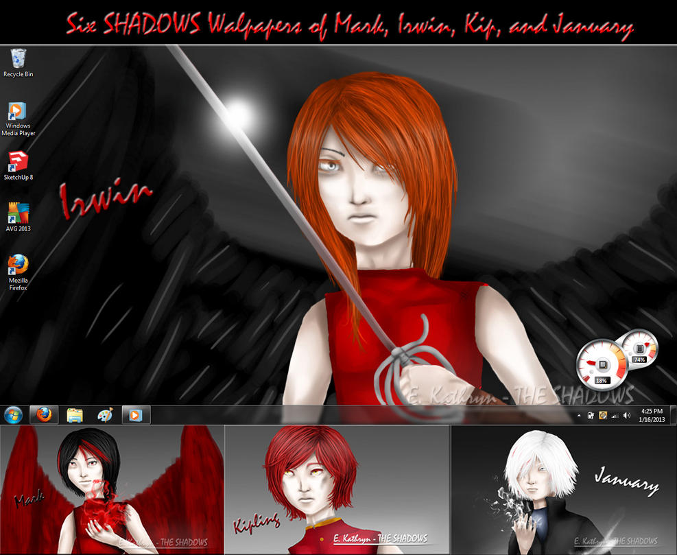 THE SHADOWS .:Free Wallpapers:. by E-Kathryn