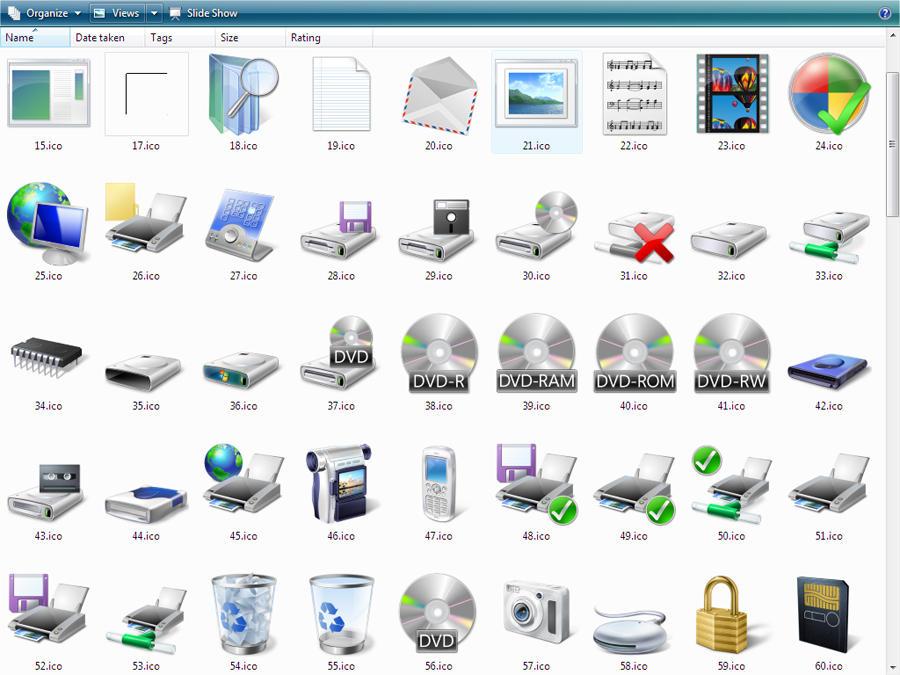Vista Original ICONS by yethzart on DeviantArt