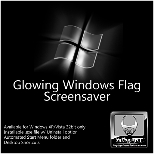 Glowing Windows Flag SCR by yethzart