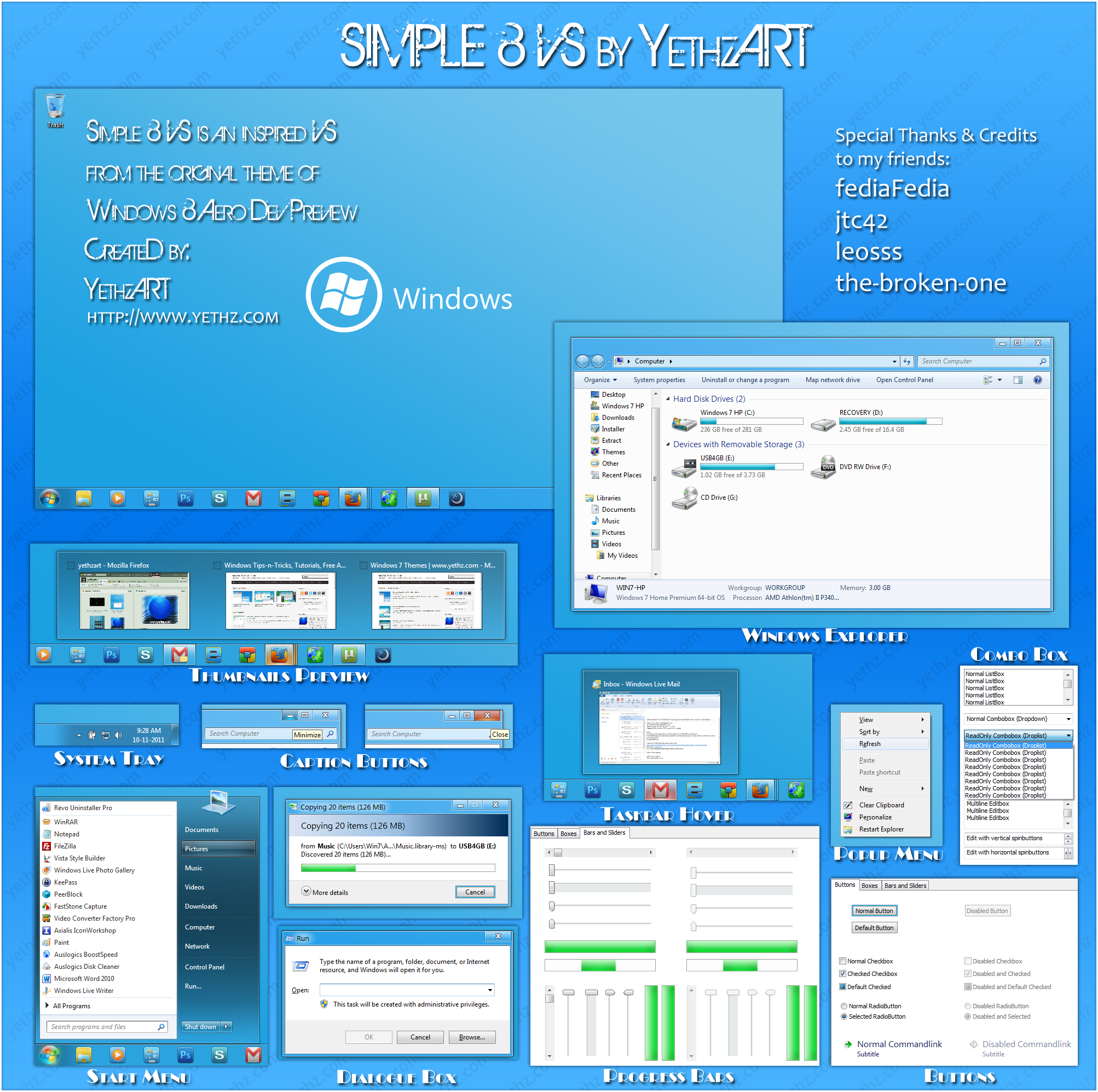 Clean Simple 8 theme for Windows 7