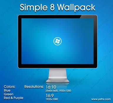 Simple 8 Wallpack