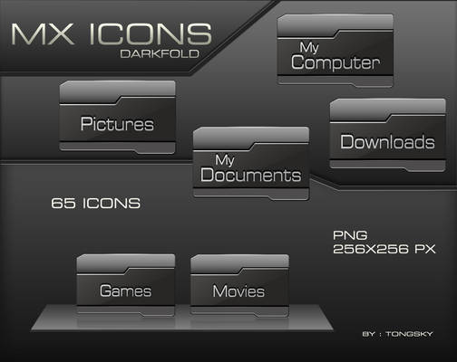 MX Icons DARKFOLD