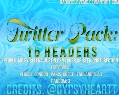 Twitter Header Pack by radiatelovemc