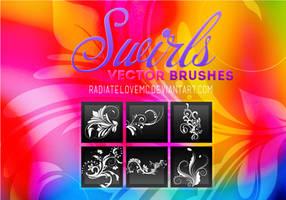 Swirls Vector Brushes by radiatelovemc