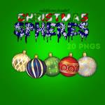Christmas Spheres  PNG
